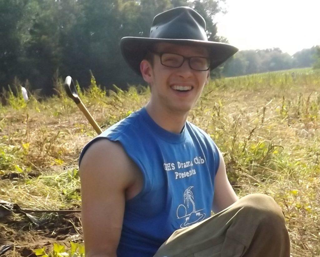 David in the field