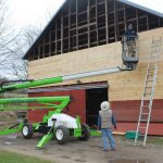 Repairing CSA Barn- Ralph Eustis and Dave Desiderata by Lareau